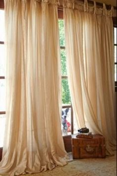 Balloon Drapery Panel - traditional - curtains - other metro - Soft Surroundings French Country Bedrooms, French Country Living Room, French Country Cottage, French Country Style, French Country Decorating, French Country Curtains, French Curtains, Cottage Farmhouse, Cottage Style