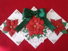 handmade poinsettia christmas card