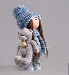 """Купить """"ДРУЖБЫ МНОГО НЕ БЫВАЕТ"""" ... - голубой, серый, текстильная игрушка…"""