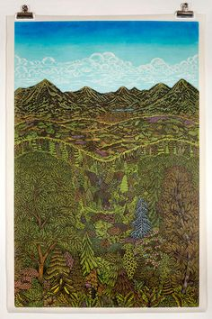 Three years in the making, we first teased this phenomenal new woodcut print titled Overlook from Valerie Lueth and Paul Roden of Tugboat Printshop (previously) back in 2014—the carving of a single woodblock was intriguing enough to warrant its