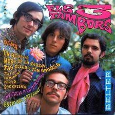 Els Tres Tambors. Segon disc, 1967. Jo sóc el del bigoti i les ulleres.