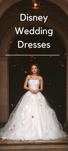 Discover the latest Disney Wedding Dress Collection. If you want to look like a Disney Princess on your wedding day here is a fabulous collection of the very best official Disney Princess Wedding Dresses. #disneywedding #disneyweddingdress #disneyprincesswedding dress Disney Wedding Dresses, Princess Wedding Dresses, Official Disney Princesses, On Your Wedding Day, Dress Collection, Ball Gowns, Formal Dresses, Fashion, Ballroom Gowns