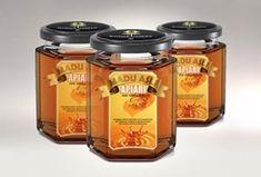 Honey jar's label design