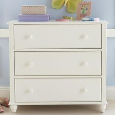 Kids' Dressers: Kids 3-Drawer White Jenny Lind Dresser in Dressers | The Land of Nod