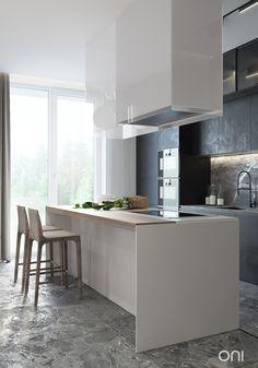 VAREZHKI HOUSE on Behance Fancy Living Rooms, Living Room Designs, Architectural Design Studio, Small House Interior Design, Best Kitchen Designs, Behance, Apartment Design, Kitchen Dining, Kitchen Tips
