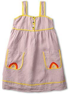 Stella McCartney Kids Ruby Girls Linen Tank Dress (Toddler/Little Kids/Big Kids)