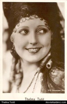 Thelma Todd - 1930s actress ... when she was young - MovieMaidens.com
