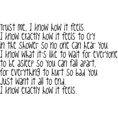 This describes my night. I'm more of the suffer in silence type. I don't like bothering people with my problems.