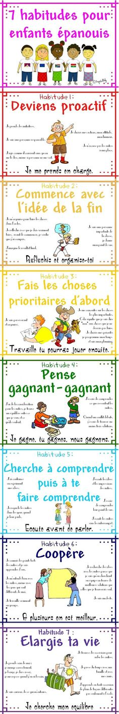 7 Habitudes (7 habits poster in french)