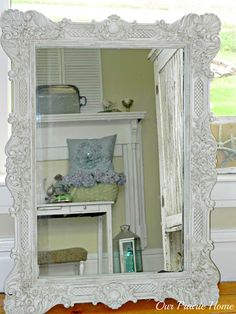 gold mirror redo - such a dramatic change, Love it!