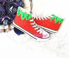 42506fdaf27d Strawberry Converse Custom Shoes