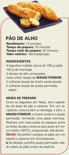 Suplemento Nestlé com Você - Edição 7: Pão de alho.