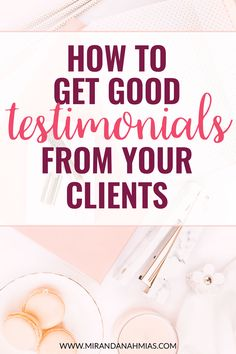 How to Get Good Testimonials From Your Clients. A step-by-step tutorial, plus an email and survey template from yours truly! // Miranda Nahmias & Co. Digital Marketing Agency and Virtual Assistance Team Small Business Marketing, Business Tips, Online Business, Creative Business, Online Marketing, Digital Marketing, Content Marketing, Survey Template, How To Get Better