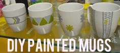 Lizzy Pancakes: DIY: painted mugs