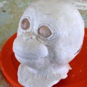 baby orangutan doll head in progress