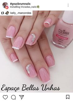 46 ideas french pedicure ideas glitter for 2019 Tan Nails, Love Nails, Pretty Nails, Manicure Nail Designs, Nail Manicure, Nail Art Designs, French Pedicure, French Nails, Fabulous Nails