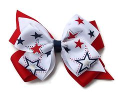 """5"""" Fun 4th of July Hair bow! Great for all ages!"""