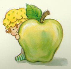 Apple Dumplin - Peeking from Big Apple Strawberry Shortcake Characters, Vintage Strawberry Shortcake, Kids Schedule, Rainbow Brite, Cool Cartoons, Childhood Memories, Watermelon, Berries, Apple