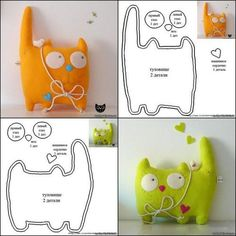 Nice Cat To Make From Old Clothes Or Other Things