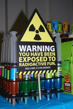 "Science Themed Room - For Classroom Door - ""Warning: You Have Been Exposed to Radioactive Learning"""