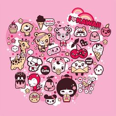 "I Love Kawaii: Shirt design for ""La Fraise"" contest by charuca, via Flickr"
