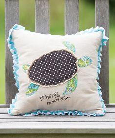 Sea Turtle Throw Pillow #zulily #zulilyfinds