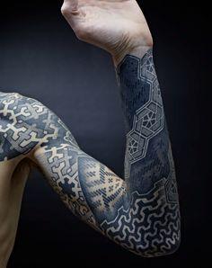 black blue sleeve tattoo - Google Search