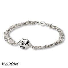 "Pandora 6.7"" Multi-Strand 1-Clip Bracelet"