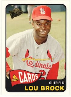 Louuuu! Retired St. Louis Cardinals outfielder Lou Brock.