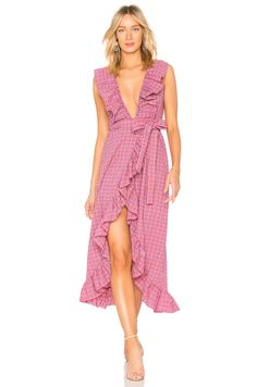 37802bbd30 MISA Los Angeles Stella Dress in Red Gingham Red Gingham