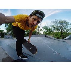 Instagram #skateboarding photo by @tylernoahkc - Testing out these new Bruins..and I must say I am hyped on how they feel. #hyperfeel #nikesb #nikebruin #kansascity #capture_kc #goprohero4 #goprooftheday #goproskate #gopro #yellow #red #camo #colors #lol #kcmo #skateboard #skateboarding #skateclipsdaily #metrogrammed # @gopro. Support your local skate shop: SkateboardCity.co