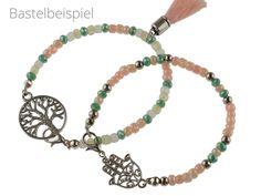 Anfänger Perlenarmband Set in silberfarben, Vintage parts