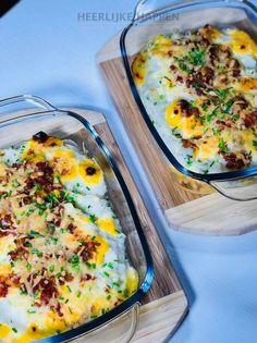 Bloemkoolpuree uit de oven - Heerlijke Happen Low Carb Dinner Recipes, Keto Recipes, Healthy Recipes, Healthy Food, Food Inspiration, Veggies, Favorite Recipes, Eat, Breakfast