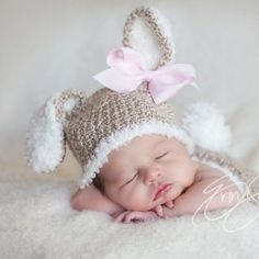 Baby Bunny Hat and Diaper Cover Crochet Set-Perfect for Newborn from ILoveCuteShoes.com