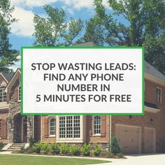 Do you have bad leads? This guide will show you how to turn any lead into a full contact record! Sell more houses with these 14 free tactics.