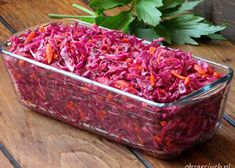 Sałatka HIT imprezy - Obżarciuch Whats For Lunch, Side Salad, Summer Salads, Cabbage, Thanksgiving, Beef, Snacks, Vegetables, Cooking