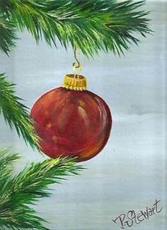 christmas paintings 40 Beautiful Christmas Painting Ideas to Try This Season - Bored Art Christmas Paintings On Canvas, Christmas Tree Painting, Christmas Canvas, Winter Painting, Christmas Art, Christmas Decorations, Christmas Ornaments, Tree Paintings, Christmas Ideas