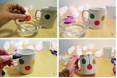 #Christmas #mugs tazas de #Navidad #DIY #doityourself www.idoproyect.com