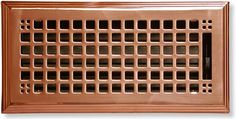 craftsman style heat register in polished copper Metal Mailbox, Vent Covers, Craftsman Style Homes, Home Hardware, Master Closet, Arts And Crafts Movement, Decoration, Home Crafts, New Homes