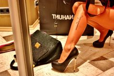 high heels, tattoo, legs