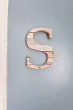 Ohio Barnwood Wood Letter S Chippy Paint Handmade Monogram Natural Wall |  Nursery Décor