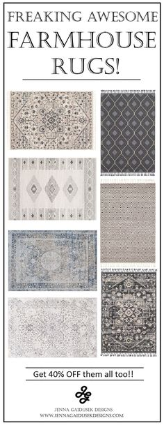Freaking awesome farmhouse rugs These are my favorite neutral family friendly farmhouse rugs Im in love with the affordable rug prices from Boutique rugs and I have order. Farmhouse Rugs, Country Farmhouse Decor, Farmhouse Style Kitchen, Modern Farmhouse Kitchens, Farmhouse Furniture, Country Furniture, Farmhouse Trim, Farmhouse Windows, Farmhouse Plans