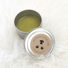 DIY Dog Snout and Paw Balm recipe with printable label.