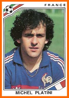 Michel Platini of France. 1986 World Cup Finals card. Uefa Football, Football Awards, Football Tournament, Football Icon, National Football Teams, World Football, Michel Platini, Mexico 86, Player Card
