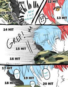 Các short doujinshi về Akabane Karma x Shiota Nagisa trong manga Ansatsu Kyoushitsu (Assassination Classroom). Karma Y Nagisa, Karma Kun, Anime Meme, Dandere Anime, Comics Anime, Classroom Memes, Koro Sensei, Nagisa Shiota, Art Manga