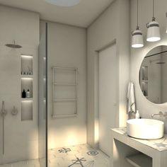 Minimalistic bathroom design. #archzone #interiordesign #furniture #decoration #decor #renovation #greece #design #modern #minimal #tiles #decor #bath #bathroom #shower #bathtub #white #home #house #apartment #minimalbathroom #whitebathroom Minimal Bathroom, White Bathroom, Apartment Renovation, Apartment Design, Unique Furniture, Furniture Design, Construction Design, Architecture Plan, Minimalist