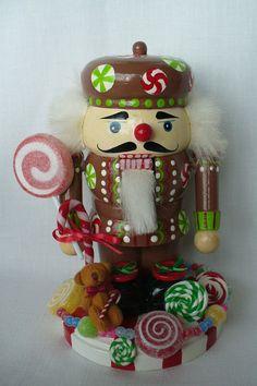CANDY MAN Nutcracker-oh boy candy and teddy bear
