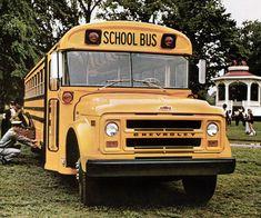Old School Bus, Blue Bird, Chevrolet, Transportation, Classic Cars, Trucks, Vehicles, Vans, Usa