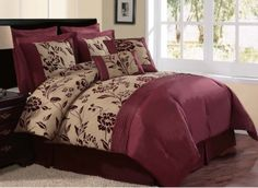 Just ordered, my new bedset for my Mexico City apartment!!    Victoria Classics Aurora 8-Piece Queen Comforter Set, Burgundy/Gold by Victoria Classics, http://www.amazon.com/dp/B004S673PC/ref=cm_sw_r_pi_dp_9okqrb01QQSG5