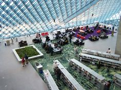 Seattle Central Library – beautiful space with lots of light. If this was in my town I would be there every day.
